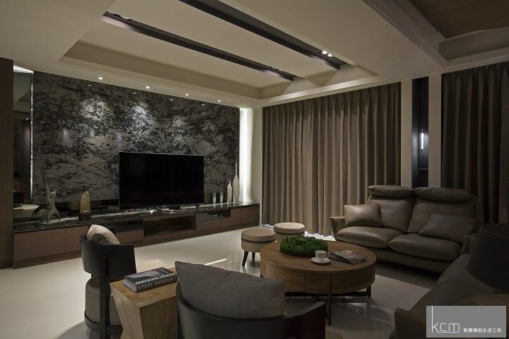 自然美景,竟在居家生活之中 法采1702案例 客廳