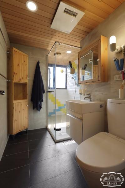 米立奇現代輕工業風住家 調節濕氣浴室