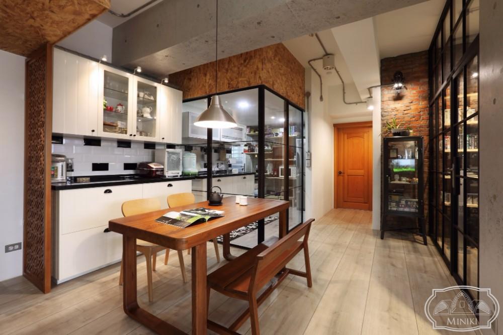 米立奇現代輕工業風住家 開放式廚房