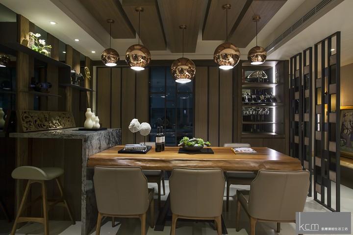 自然美景,竟在居家生活之中 法采1702案例 餐廳黑玻門