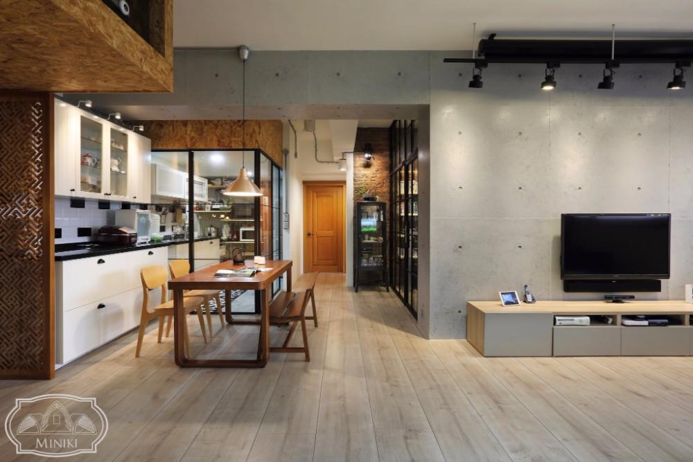 米立奇現代輕工業風住家 對花地板