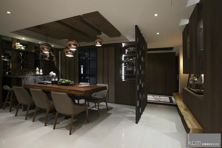 自然美景,竟在居家生活之中 法采1702案例 餐廳天花板