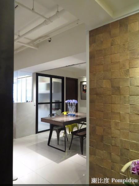龐比度混搭風案例 西班牙木紋磚