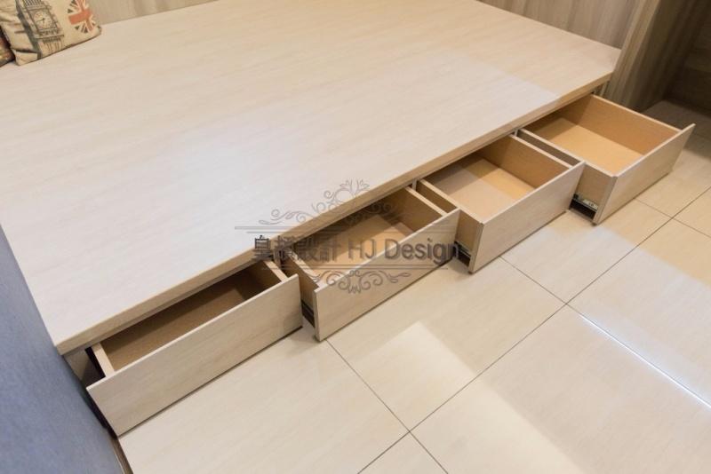 實現內心深處的理想住家-床底收納│皇頡空間設計